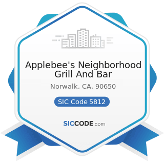 Applebee's Neighborhood Grill And Bar - SIC Code 5812 - Eating Places