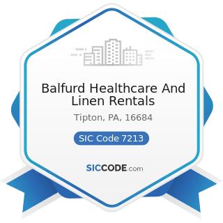 Balfurd Healthcare And Linen Rentals - SIC Code 7213 - Linen Supply