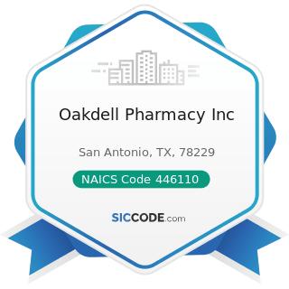 Oakdell Pharmacy Inc - NAICS Code 446110 - Pharmacies and Drug Stores