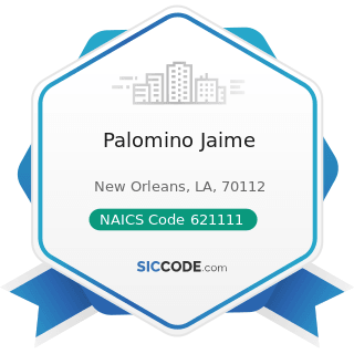 Palomino Jaime - NAICS Code 621111 - Offices of Physicians (except Mental Health Specialists)