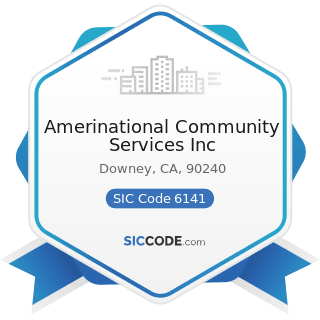 Amerinational Community Services Inc - SIC Code 6141 - Personal Credit Institutions