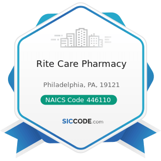 Rite Care Pharmacy - NAICS Code 446110 - Pharmacies and Drug Stores