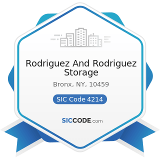 Rodriguez And Rodriguez Storage - SIC Code 4214 - Local Trucking with Storage