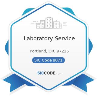 Laboratory Service - SIC Code 8071 - Medical Laboratories