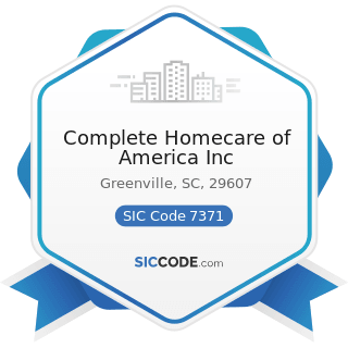 Complete Homecare of America Inc - SIC Code 7371 - Computer Programming Services