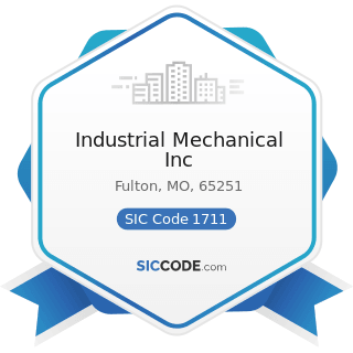Industrial Mechanical Inc - SIC Code 1711 - Plumbing, Heating and Air-Conditioning