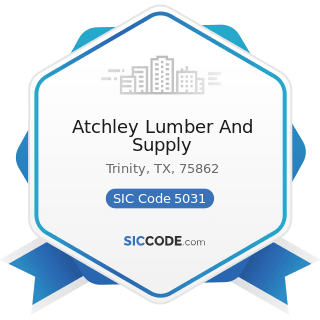 Atchley Lumber And Supply - SIC Code 5031 - Lumber, Plywood, Millwork, and Wood Panels
