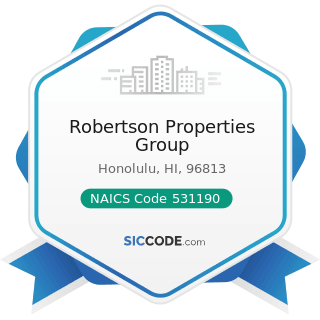 Robertson Properties Group - NAICS Code 531190 - Lessors of Other Real Estate Property