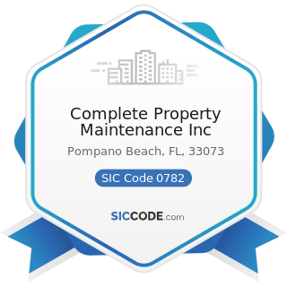 Complete Property Maintenance Inc - SIC Code 0782 - Lawn and Garden Services