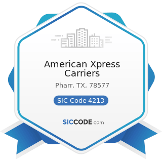 American Xpress Carriers - SIC Code 4213 - Trucking, except Local