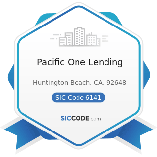 Pacific One Lending - SIC Code 6141 - Personal Credit Institutions