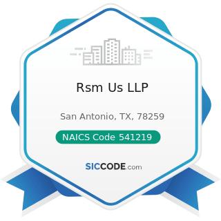 Rsm Us LLP - NAICS Code 541219 - Other Accounting Services