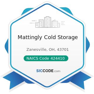 Mattingly Cold Storage - NAICS Code 424410 - General Line Grocery Merchant Wholesalers