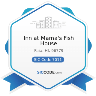 Inn at Mama's Fish House - SIC Code 7011 - Hotels and Motels