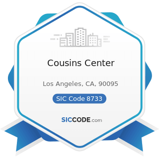 Cousins Center - SIC Code 8733 - Noncommercial Research Organizations