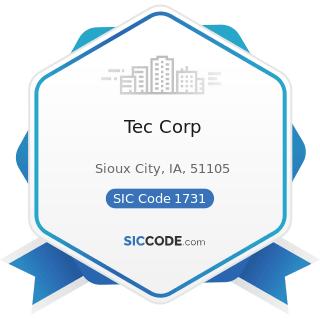 Tec Corp - SIC Code 1731 - Electrical Work