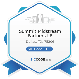Summit Midstream Partners LP - SIC Code 1311 - Crude Petroleum and Natural Gas