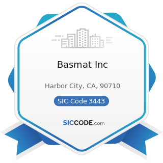 Basmat Inc - SIC Code 3443 - Fabricated Plate Work (Boiler Shops)