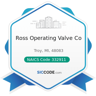 Ross Operating Valve Co - NAICS Code 332911 - Industrial Valve Manufacturing