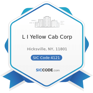 L I Yellow Cab Corp - SIC Code 4121 - Taxicabs