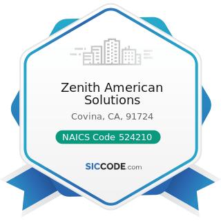 Zenith American Solutions - NAICS Code 524210 - Insurance Agencies and Brokerages