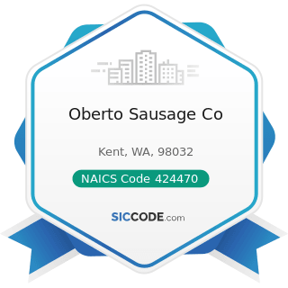 Oberto Sausage Co - NAICS Code 424470 - Meat and Meat Product Merchant Wholesalers