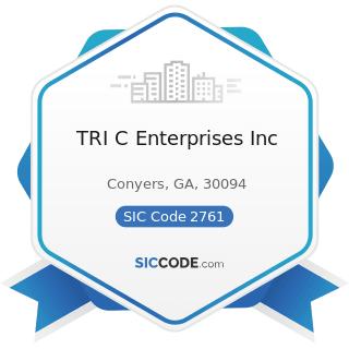 TRI C Enterprises Inc - SIC Code 2761 - Manifold Business Forms