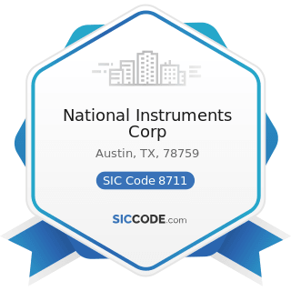 National Instruments Corp - SIC Code 8711 - Engineering Services