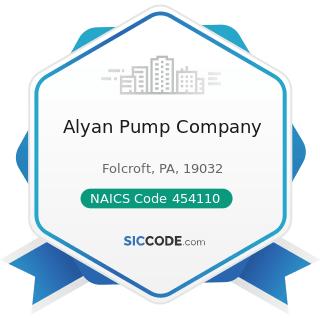 Alyan Pump Company - NAICS Code 454110 - Electronic Shopping and Mail-Order Houses