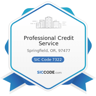 Professional Credit Service - SIC Code 7322 - Adjustment and Collection Services