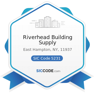 Riverhead Building Supply - SIC Code 5231 - Paint, Glass, and Wallpaper Stores