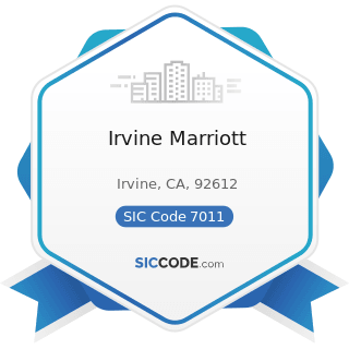 Irvine Marriott - SIC Code 7011 - Hotels and Motels