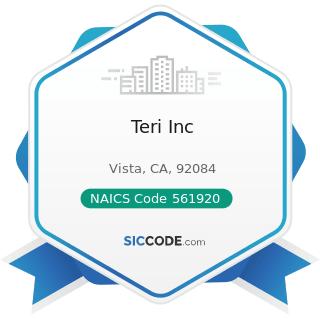 Teri Inc - NAICS Code 561920 - Convention and Trade Show Organizers