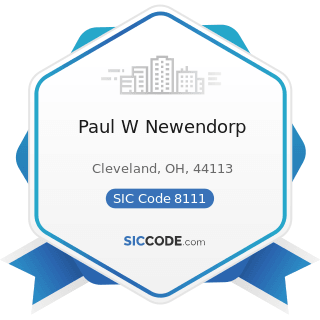 Paul W Newendorp - SIC Code 8111 - Legal Services