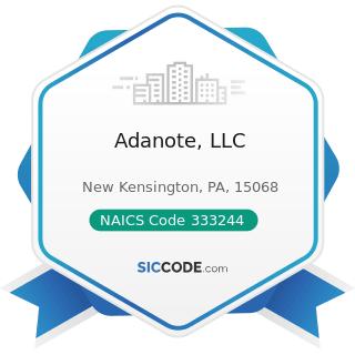 Adanote, LLC - NAICS Code 333244 - Printing Machinery and Equipment Manufacturing