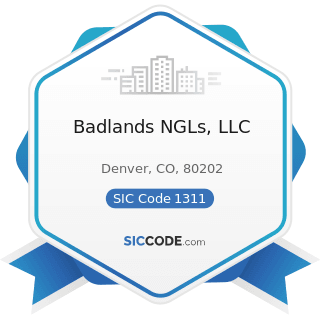 Badlands NGLs, LLC - SIC Code 1311 - Crude Petroleum and Natural Gas
