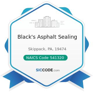Black's Asphalt Sealing - NAICS Code 541320 - Landscape Architectural Services