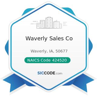 Waverly Sales Co - NAICS Code 424520 - Livestock Merchant Wholesalers