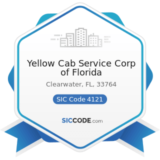 Yellow Cab Service Corp of Florida - SIC Code 4121 - Taxicabs