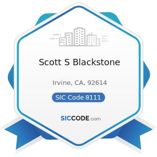 Scott S Blackstone - SIC Code 8111 - Legal Services