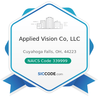 Applied Vision Co, LLC - NAICS Code 339999 - All Other Miscellaneous Manufacturing