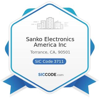Sanko Electronics America Inc - SIC Code 3711 - Motor Vehicles and Passenger Car Bodies