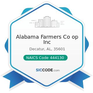 Alabama Farmers Co op Inc - NAICS Code 444130 - Hardware Stores