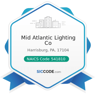 Mid Atlantic Lighting Co - NAICS Code 541810 - Advertising Agencies