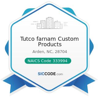 Tutco farnam Custom Products - NAICS Code 333994 - Industrial Process Furnace and Oven...
