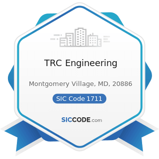 TRC Engineering - SIC Code 1711 - Plumbing, Heating and Air-Conditioning