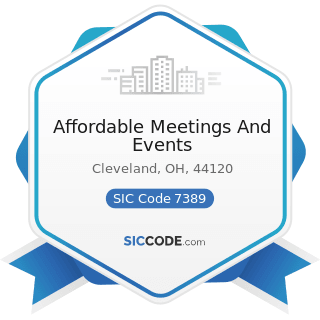 Affordable Meetings And Events - SIC Code 7389 - Business Services, Not Elsewhere Classified