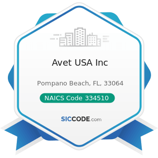 Avet USA Inc - NAICS Code 334510 - Electromedical and Electrotherapeutic Apparatus Manufacturing