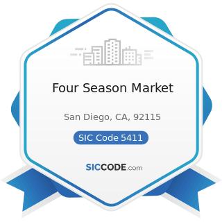 Four Season Market - SIC Code 5411 - Grocery Stores