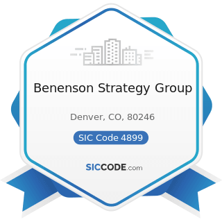Benenson Strategy Group - SIC Code 4899 - Communication Services, Not Elsewhere Classified